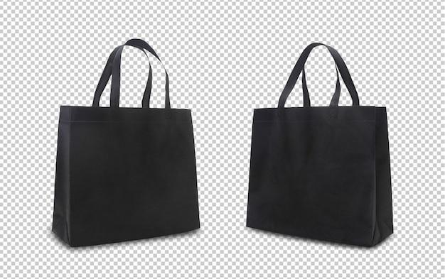 Zwarte boodschappentassen mock-up