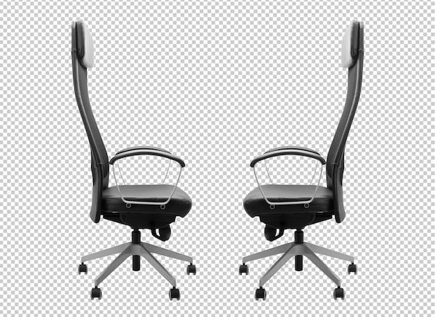 Zwarte bureaustoel mockup sjabloon.
