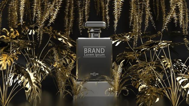 Zwarte en gouden productstandaard