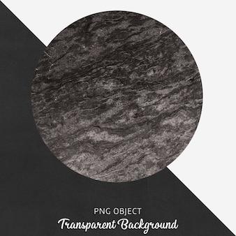 Zwarte en grijze marmeren ronde service op transparant