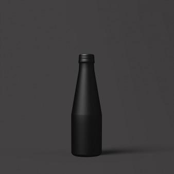 Zwarte fles malplaatjeontwerp