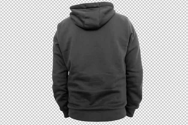 Zwarte hoodie met geïsoleerde achterkant