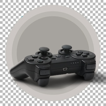 Zwarte joystick op transparante achtergrond.