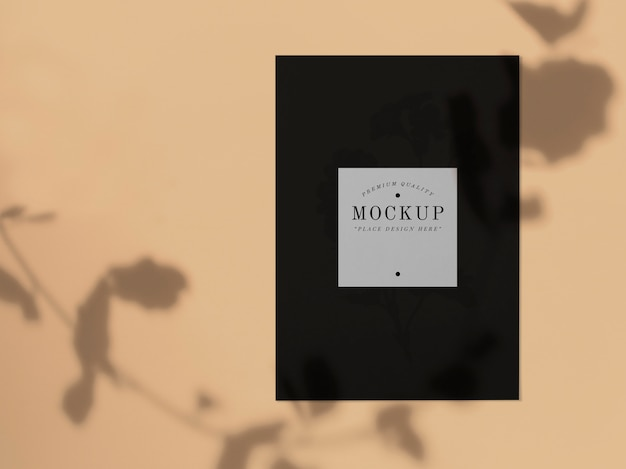 Zwarte kaartmockup van topkwaliteit