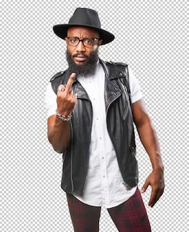 Zwarte man beledigend