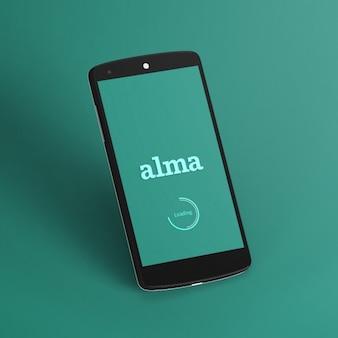 Zwarte mobiele telefoon template