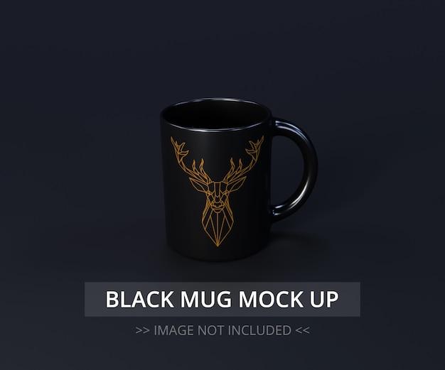 Zwarte mok mock-up