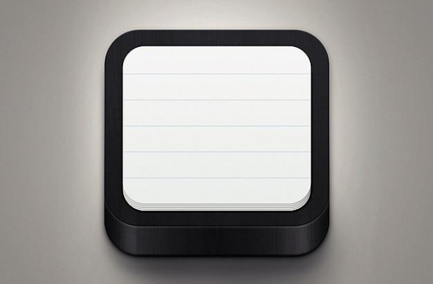 Zwarte notitiepictogram