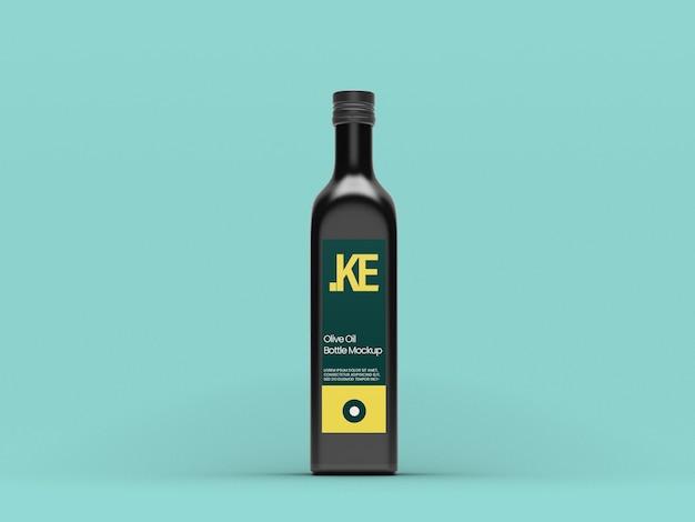 Zwarte olijfolie mockup