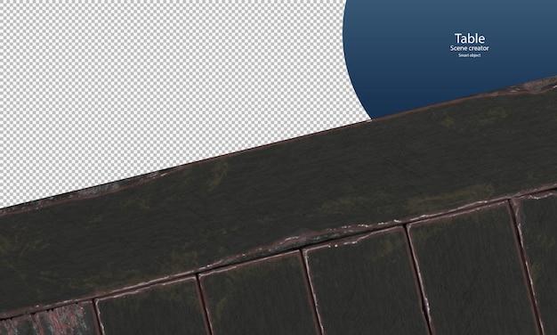 Zwarte oude houten plankenvloer voor presentatie