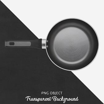 Zwarte pan op transparante achtergrond