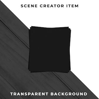 Zwarte servetten transparant psd