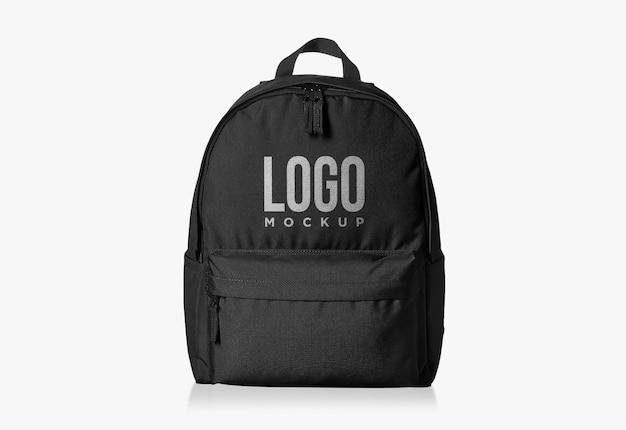 Zwarte studie tas logo ontwerp mockup