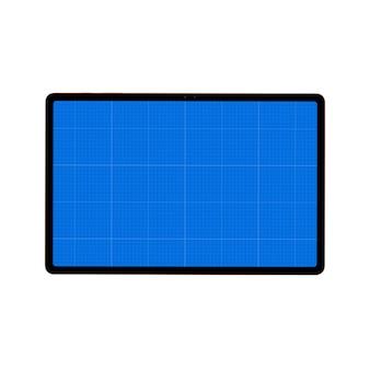 Zwarte tablet geïsoleerd