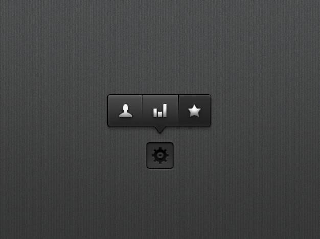 Zwarte tooltip menu psd materiaal