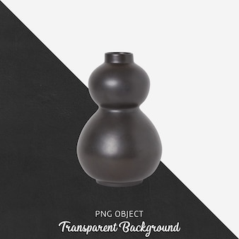 Zwarte vaas of bloempot op transparant