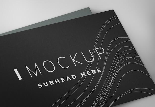 Zwarte visitekaartje ontwerp mockup