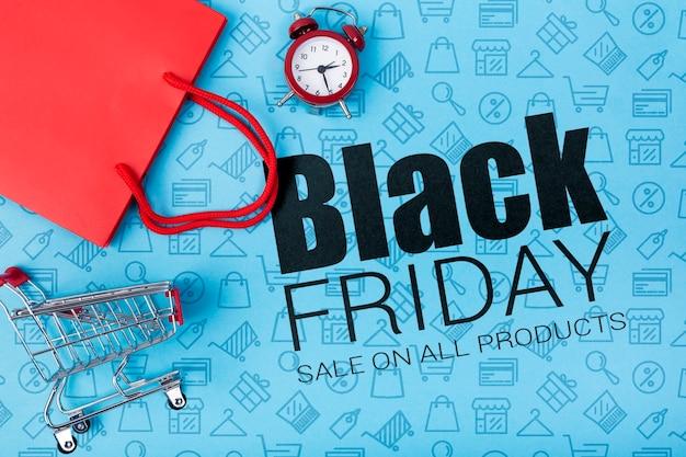 Zwarte vrijdag aankondiging online campagne