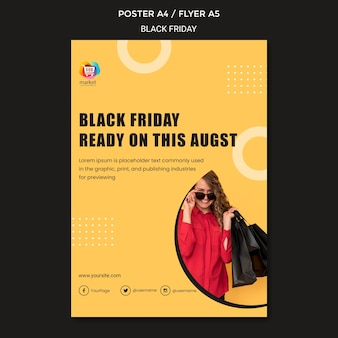 Zwarte vrijdag advertentie poster sjabloon