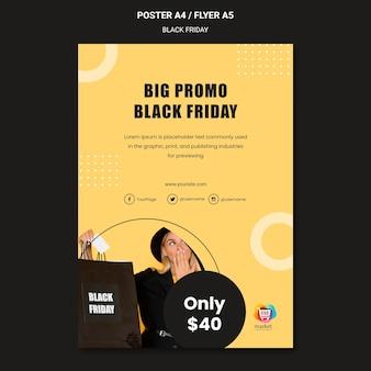 Zwarte vrijdag advertentie sjabloon poster
