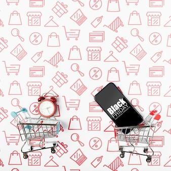 Zwarte vrijdag cyber shopping verkoop