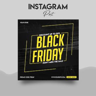 Zwarte vrijdag instagram postsjabloon