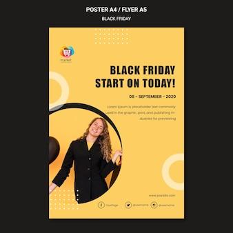 Zwarte vrijdag poster sjabloon