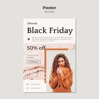 Zwarte vrijdag sjabloon poster