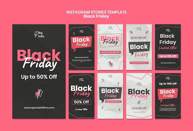 Zwarte vrijdag sociale media verhalen