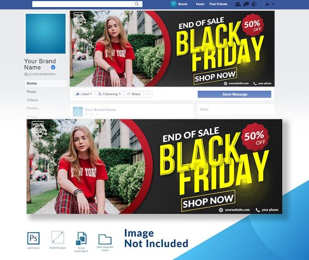 Zwarte vrijdag speciale mode korting aanbieding sociale media post sjabloon