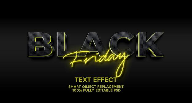 Zwarte vrijdag teksteffectsjabloon