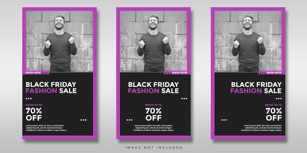 Zwarte vrijdag verkoop sociale media instagram verhalen banner