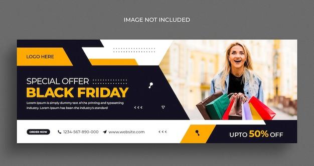 Zwarte vrijdag verkoop sociale media instagram webbanner of facebook voorbladsjabloon