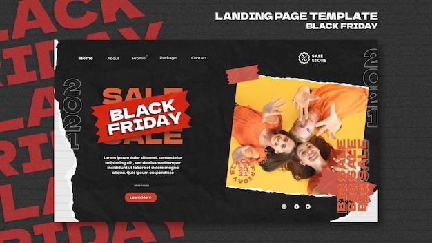 Zwarte vrijdag websjabloon