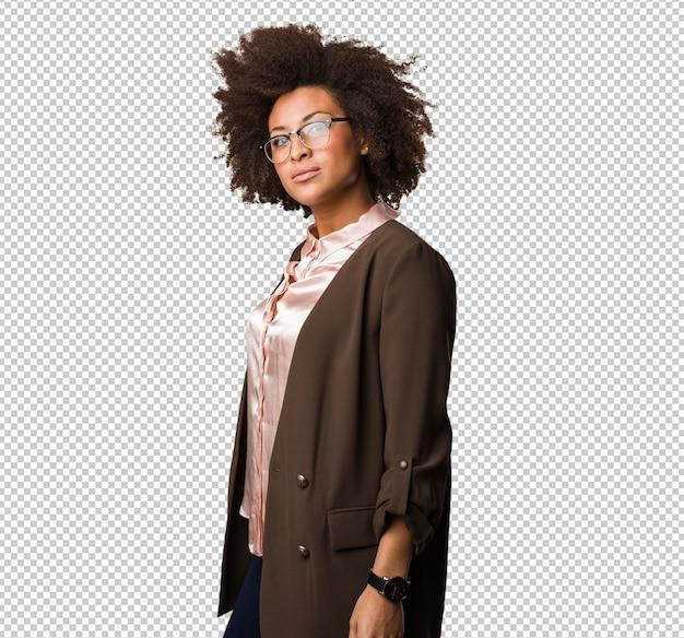 Zwarte vrouw permanent