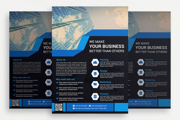 Zwarte zakelijke brochure