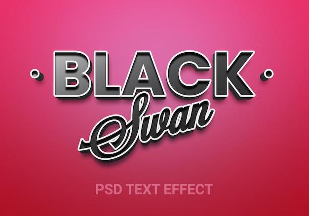 Zwarte zwaan bewerkbare teksteffecten
