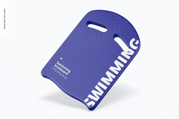 Zwemmen kickboard mockup, vallen