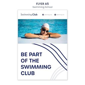 Zwemmen school folder sjabloon