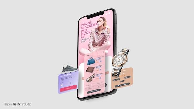 Zwevende telefoon met schermen