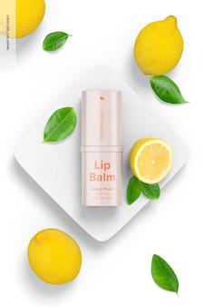 0,35 oz de baume à lèvres avec maquette de citrons