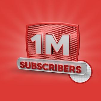 1 Million D'abonnés PSD Premium