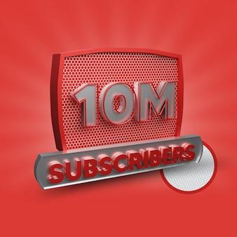 10 millions d'abonnés