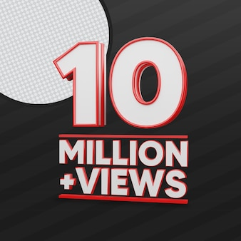 10 millions de vues youtube 3d