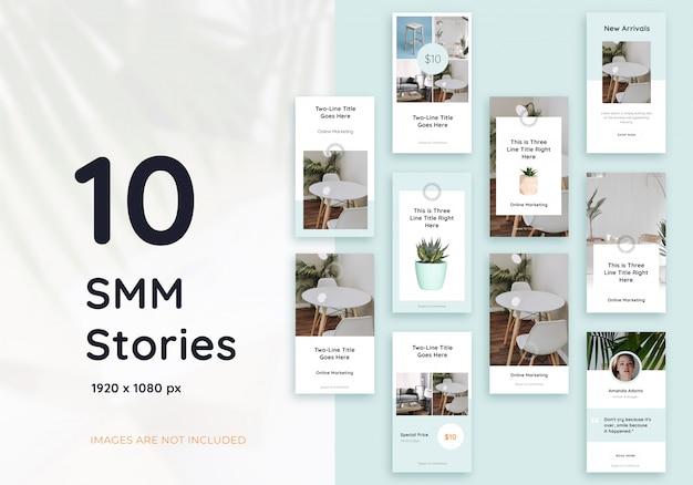 10 modèle de jeu d'histoire instagram pour une entreprise de meubles