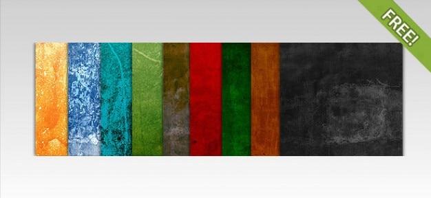 10 textures colorées