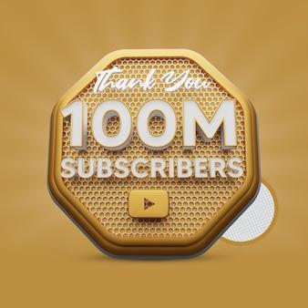 100 millions d'abonnés golden 3d