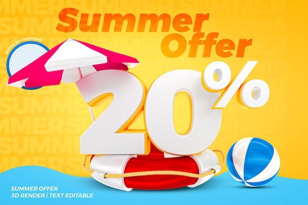 20% d'été offre un rendu 3d de concept réaliste
