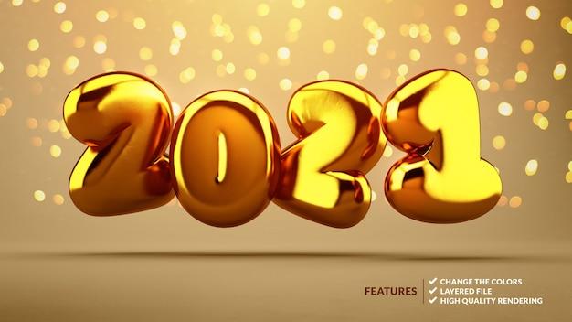 2021 Nombres D'or Flottants PSD Premium
