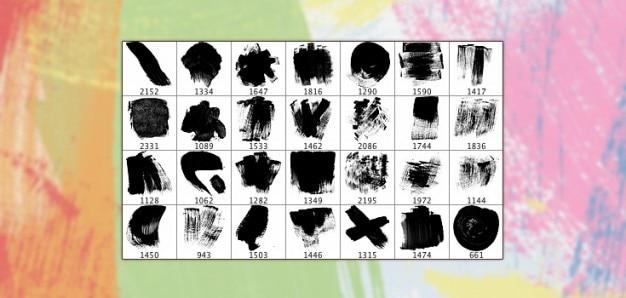 28 haute résolution brosses acrylique